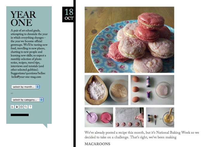 Macaroon making! Snapshot from the Year One blog.