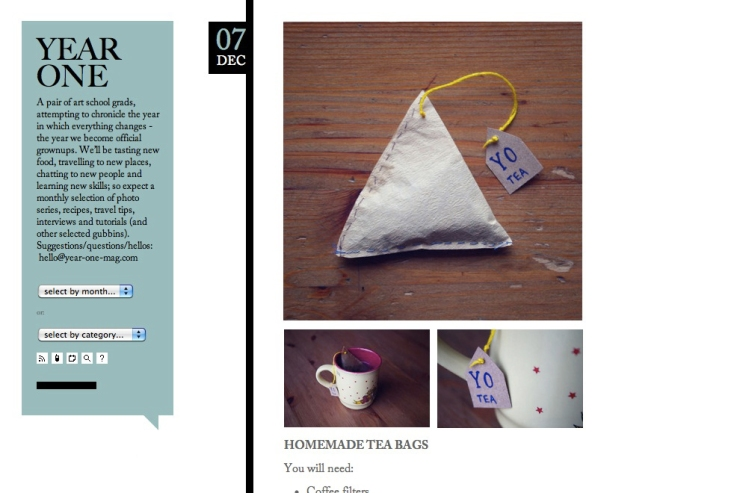 Homemade Teabags.