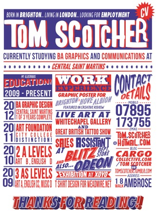 Tom Scotchers CV