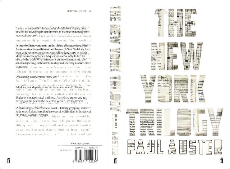 The New York TrilogyBook cover design by Nicola