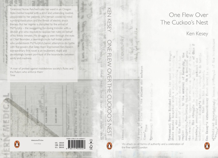 One Flew Over the Cuckoo's NestFront cover design by Nicola