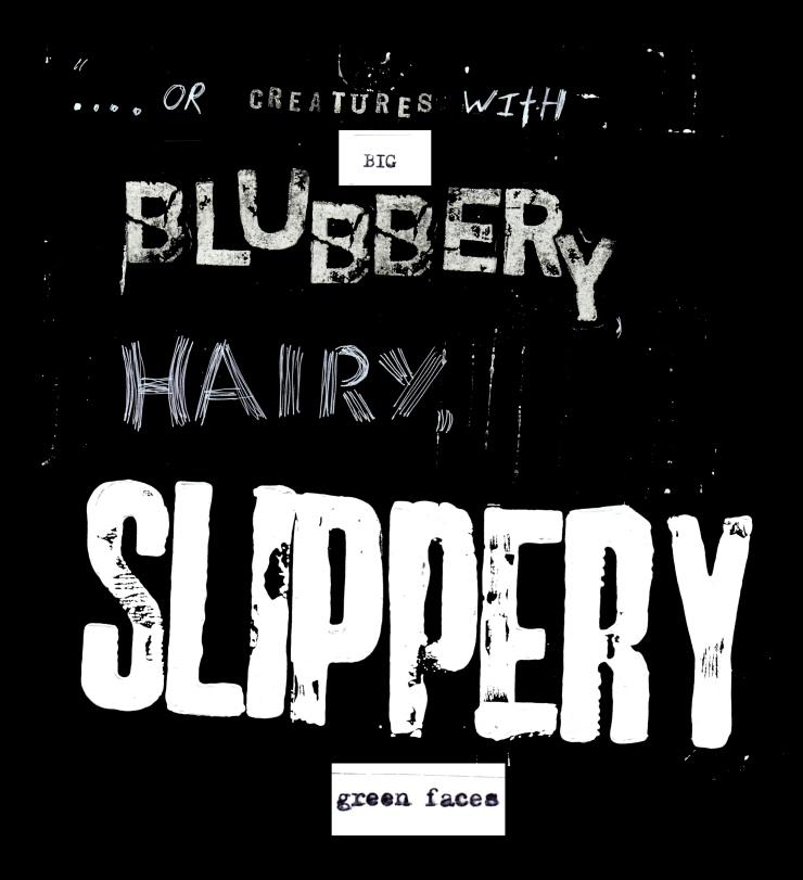 blubbery text invert