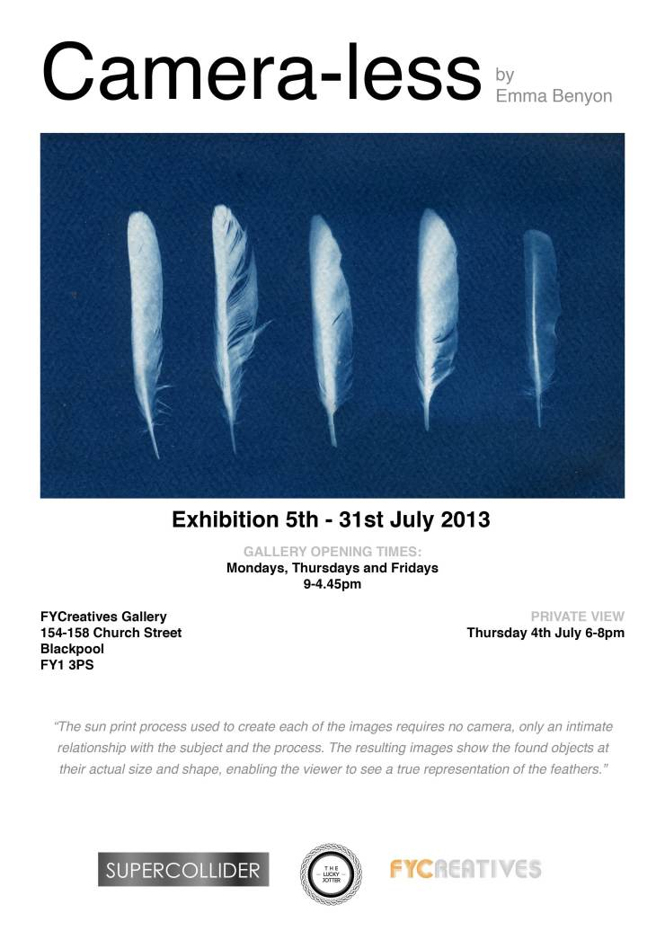 Camera-less exhibition poster