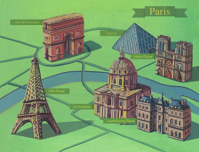 illustrated-map-of-paris