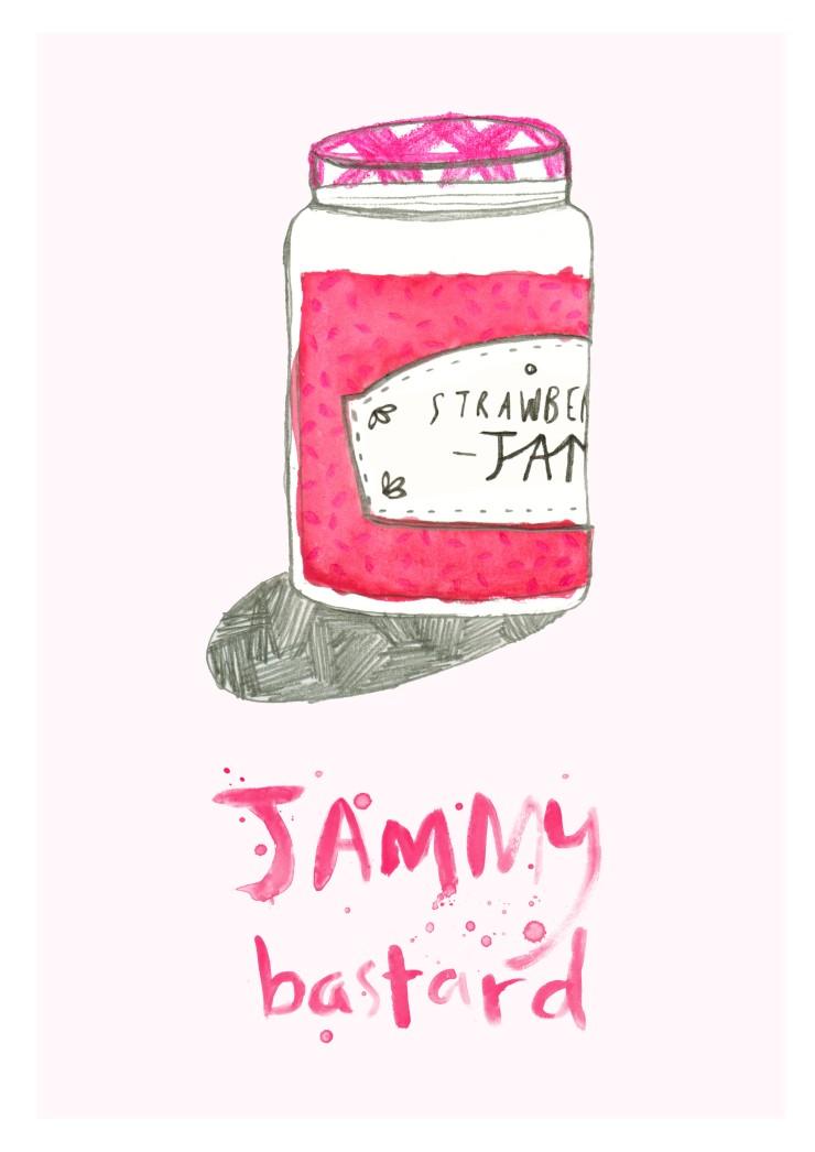 Jammy Bastard print A4