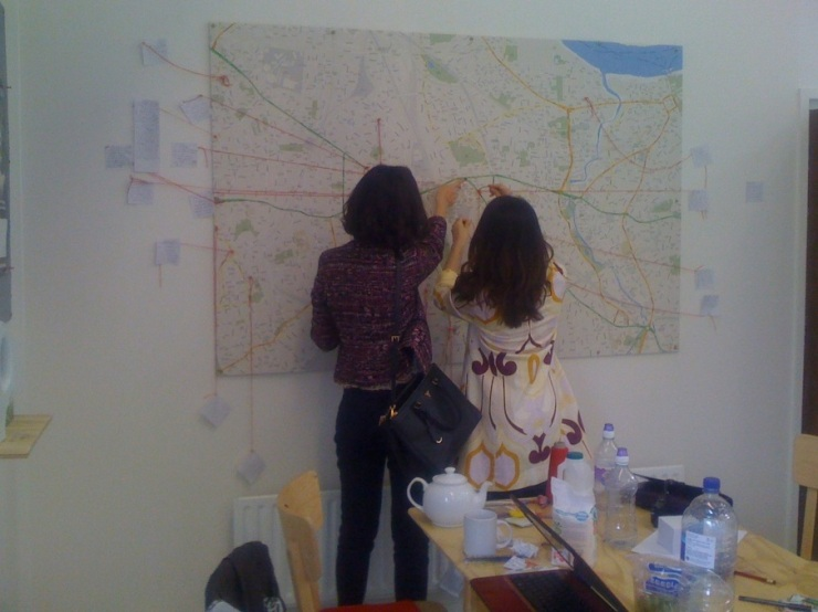 Two Girls The Map