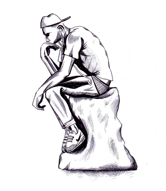 Young Person_ Rodin's Thinker