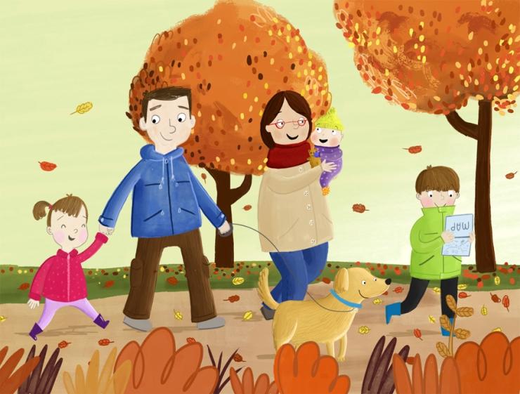 family autumn walk becky down