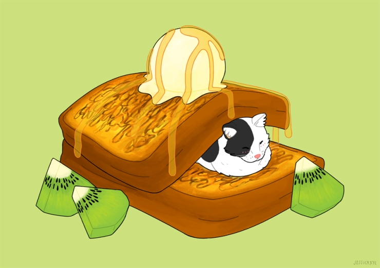 French Toast Loaf Cat