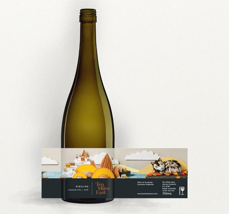 Soapbox-Press-Interview-Sam-PierpointReisling wine label illustration for Ten Miles East