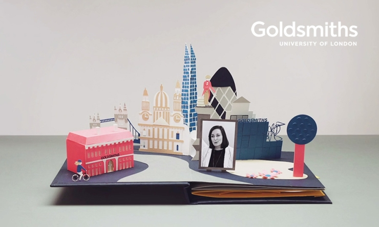 Soapbox-Press-Interview-Sam-PierpointScreen grab from Goldsmiths 'Stand out to future employers' pop-up book short film